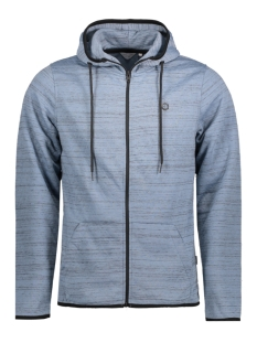 Jack & Jones Vest JCOCARBON SWEAT ZIP HOOD CAMP 12122959 Faded Denim