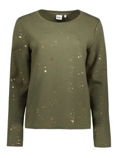 Object Sweater OBJSPLASH L/S SWEAT PULLOVER A 23024974 Ivy Green