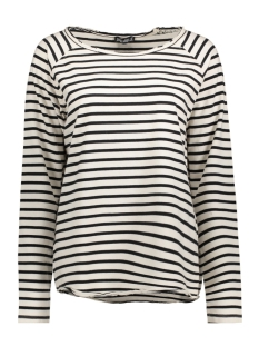 Juul & Belle Sweater EDGY SWEAT STRIPE ECRU/BLACK