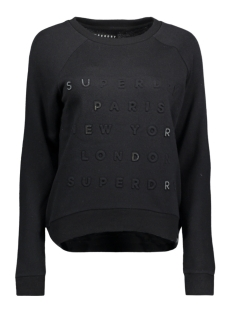 Superdry Sweater G20016PP APPLIQUE RAGLAN FW3 BLACK EMBOSS