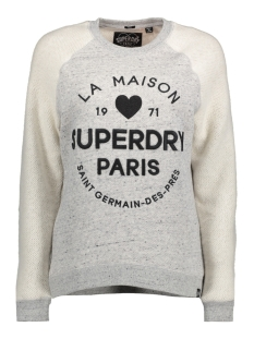 Superdry Sweater G20017PP APPLIQUE CREW LY6 GREY