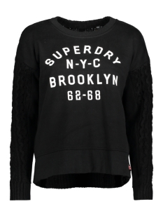 Superdry Sweater G61025DP FUSION LINE 02A BLACK