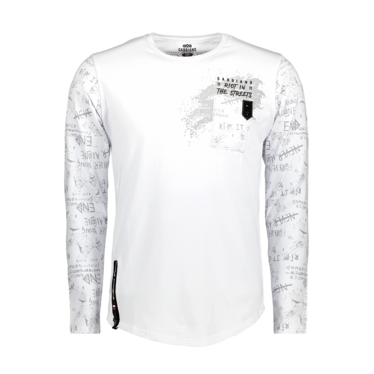 13850 gabbiano t-shirt wit