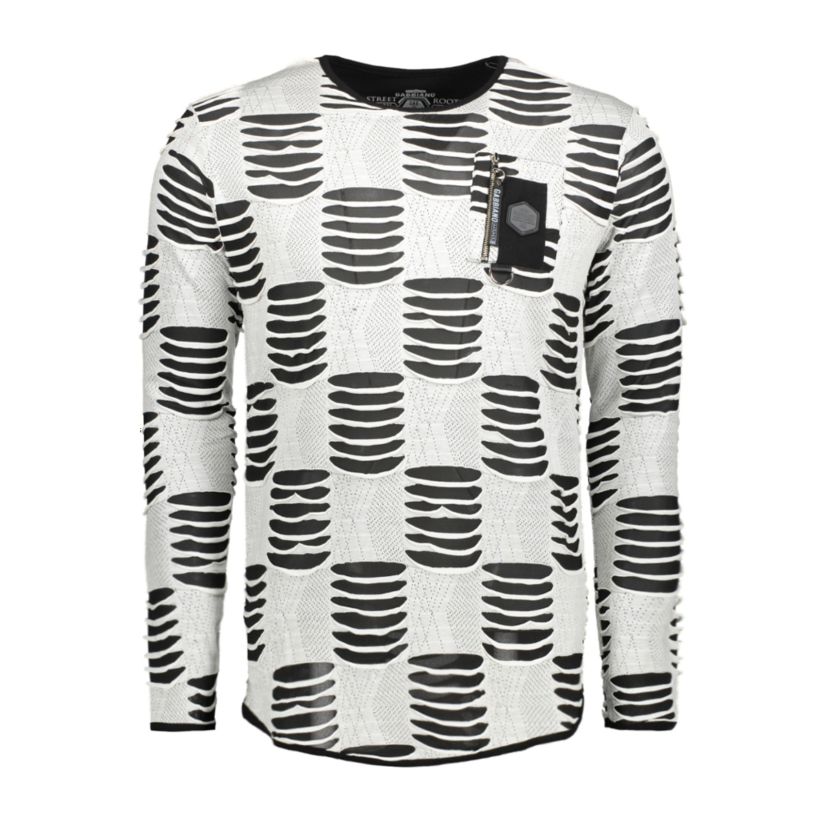 13853 gabbiano t-shirt wit