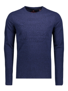 Superdry T-shirt M10003PP EMBOSSES LS CS2 NAVY