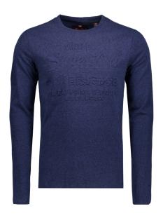 Superdry T-shirt M10003PP EMBOSSES LS CS2 NAVY