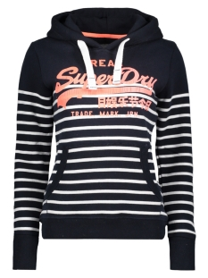 Superdry Sweater G20019XP STRIPE HOOD 20Z NAVY