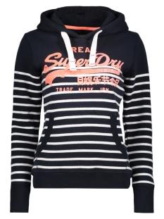 Superdry Sweater G20019XP STRIPE HOOD 20Z NAVY