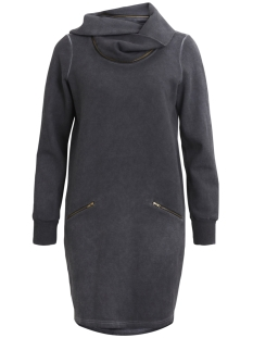 Object Jurk OBJZIPPIDY L/S SWEAT DRESS A SO 23026494 Medium Grey Melange