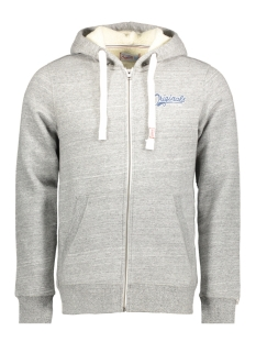 Jack & Jones Vest JORORIGINAL SWEAT ZIP HOOD 12127802 Light Grey Melange