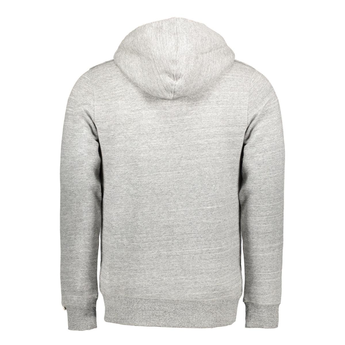 jororiginal sweat zip hood 12127802 jack & jones vest light grey melange