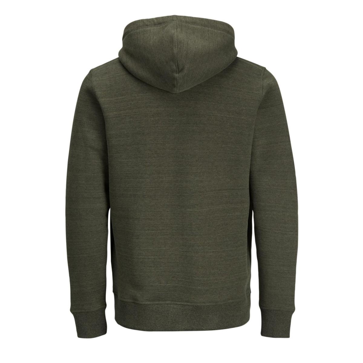 jororiginal sweat zip hood 12127802 jack & jones vest forest night