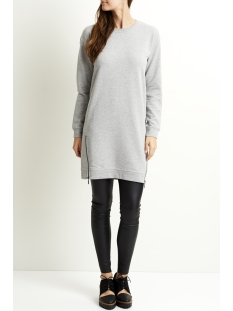 objida sweat dress 94 23025726 object jurk light grey melange
