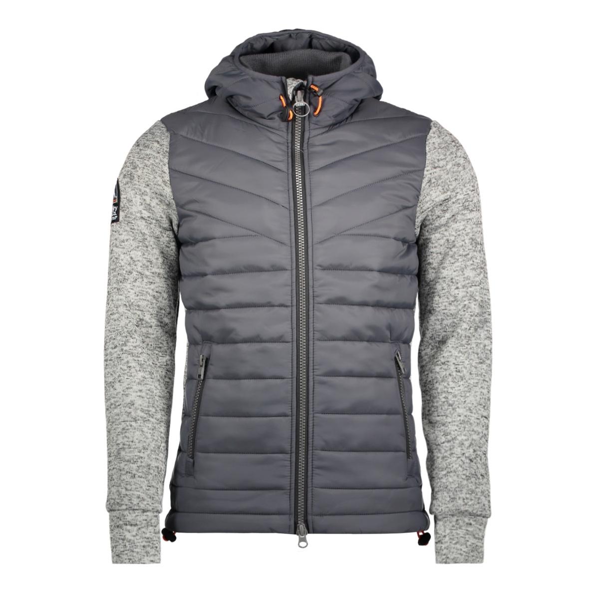 m20018pp storm hybrid superdry vest heu grey