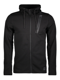 Jack & Jones Vest JCOVINSON SWEAT ZIP HOOD 12132394 Black
