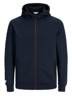 Jack & Jones Vest JCOAMOS SWEAT ZIP HOOD 12131552 Sky Captain