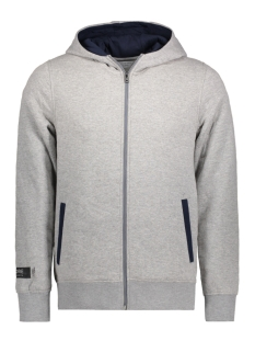 Jack & Jones Vest JCOAMOS SWEAT ZIP HOOD 12131552 Light Grey Mela
