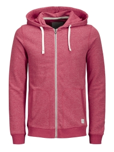 Jack & Jones Vest JORRECYCLE SWEAT ZIP HOOD NOOS 12127820 Scarlet
