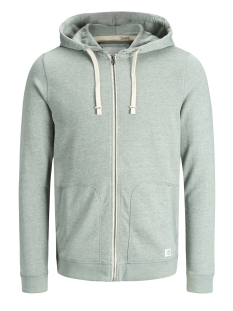 Jack & Jones Vest JORRECYCLE SWEAT ZIP HOOD NOOS 12127820 Chinois Green
