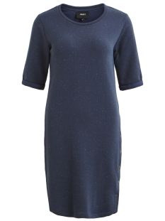 Object Jurk OBJJESSY S/S SWEAT NAP YARN DRESS 9 23026344 Mood Indigo