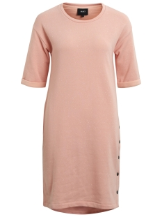 Object Jurk OBJJESSY S/S SWEAT NAP YARN DRESS 9 23026344 Peach Bud