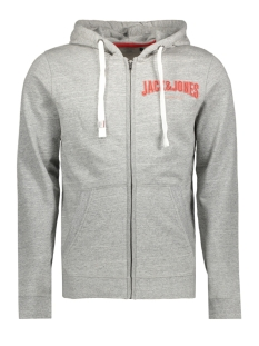 Jack & Jones Vest JORLIMIT SWEAT ZIP HOOD 12137800 Light Grey Melange/SLIM