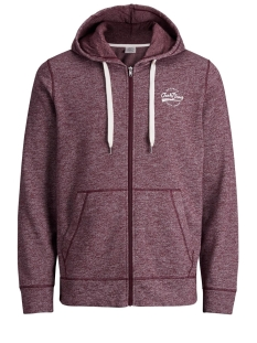 Jack & Jones Vest JORPANTHER SWEAT ZIP HOOD 12138356 Port Royale/REG MELANGE