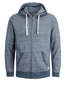 Jack & Jones Vest JJESPACE MELANGE SWEAT ZIP HOOD NOOS 12136769 True Navy/REG FIT