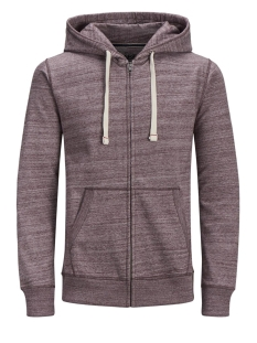 Jack & Jones Vest JJESPACE MELANGE SWEAT ZIP HOOD NOOS 12136769 Port Royale/REG FIT