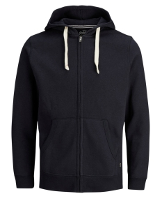 Jack & Jones Vest JJESPACE MELANGE SWEAT ZIP HOOD NOOS 12136769 Navy Blazer/REG FIT