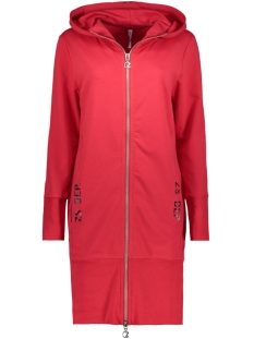 Zoso Vest HOODY SPORTY CARDIGAN BLACK/RED