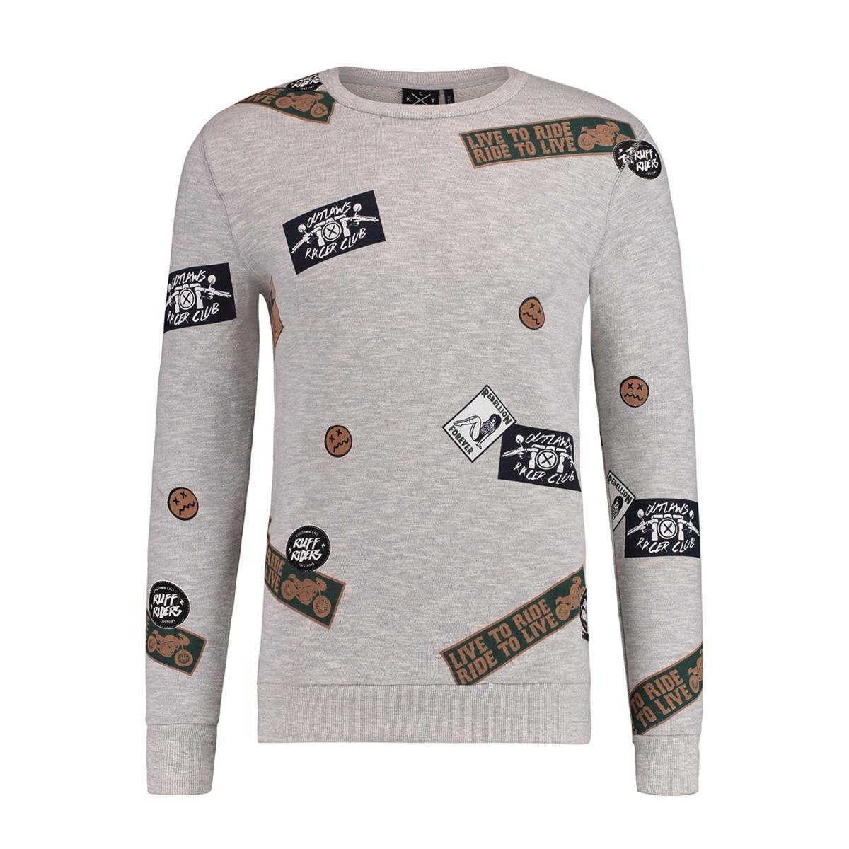 1801041015 kultivate sweater 153 light grey melange