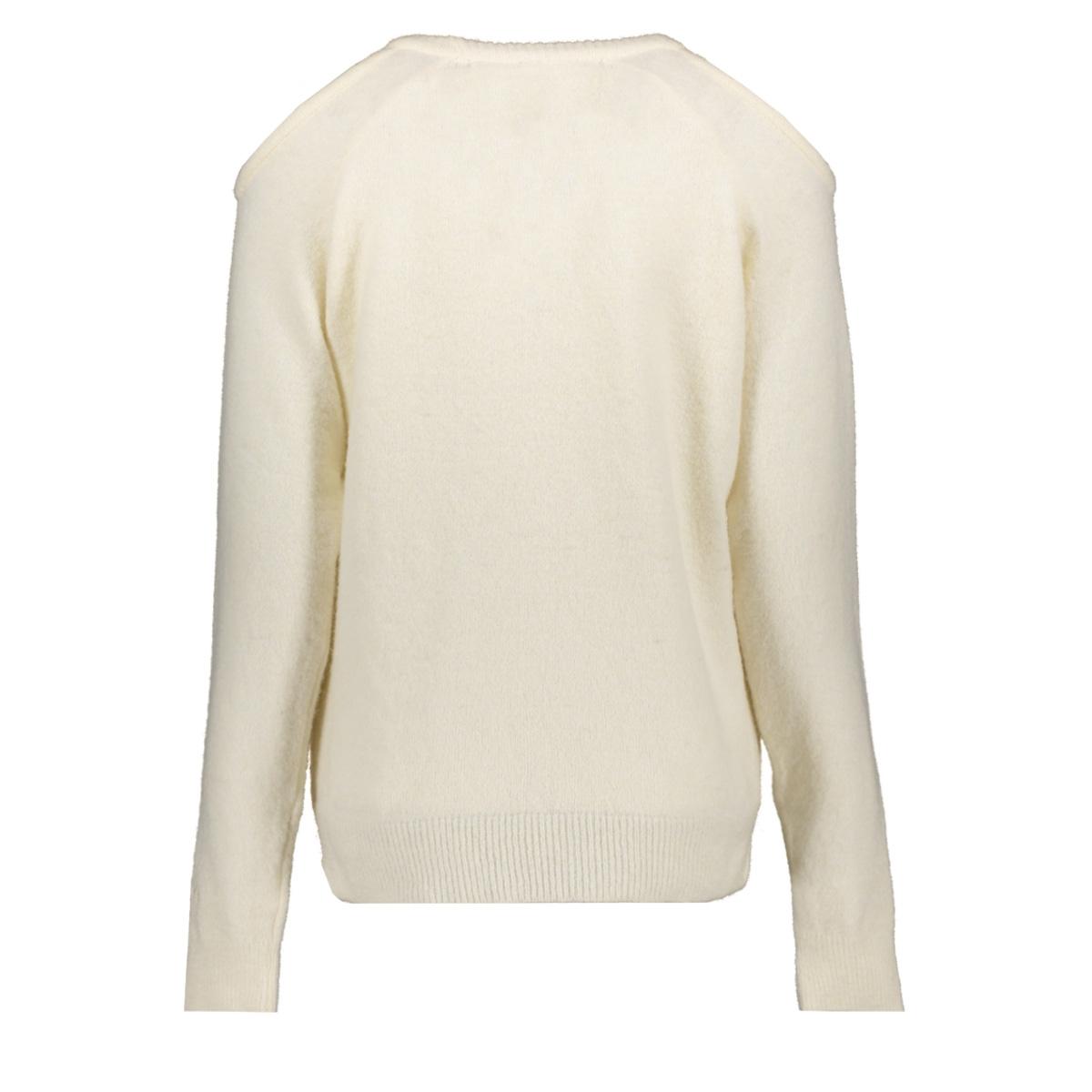 sweater open shoulders 206238104 10 days trui ecru
