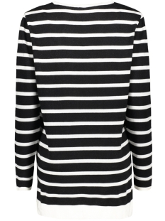 wendy striped sweater zoso trui black/offwhite