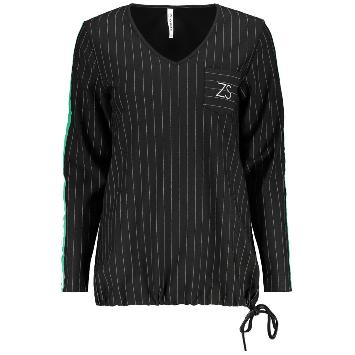 seattle 2 pinstripe sweater zoso trui black/green