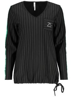 Zoso Trui SEATTLE 2 PINSTRIPE SWEATER BLACK/GREEN