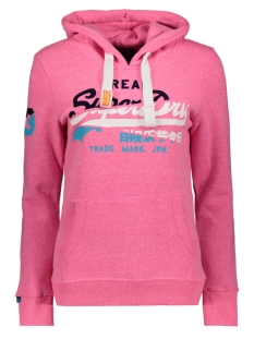 Superdry sweater G20009FQDS FLURO PINK SNOWY