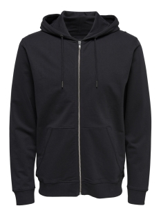 onsbasic sweat zip hoodie ubrushed 22012007 only & sons vest black