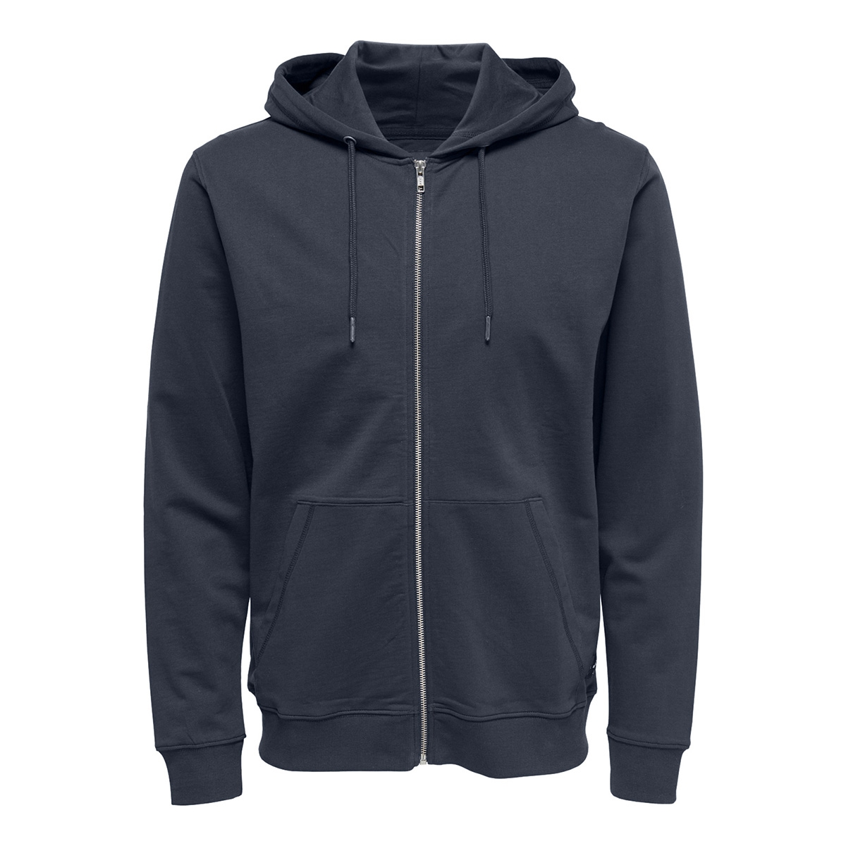 onsbasic sweat zip hoodie ubrushed 22012007 only & sons vest blue nights