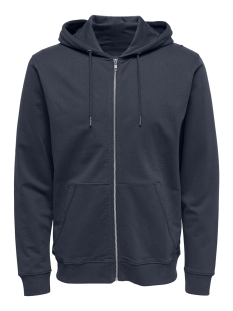 Only & Sons Vest onsBASIC SWEAT ZIP HOODIE UBRUSHED 22012007 Blue Nights