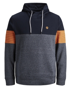 jcomart sweat hood 12156791 jack & jones sweater sky captain/reg