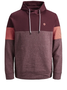 Jack & Jones sweater JCOMART SWEAT HOOD 12156791 Zinfandel/REG