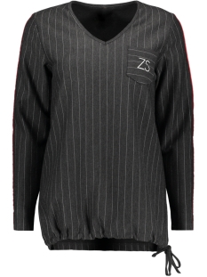 Zoso sweater SEATTLE 2 PINSTRIPE SWEATER ANTRA/RED