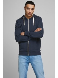JJEHOLMEN SWEAT ZIP HOOD NOOS 12136884 Navy Blazer/ reg fit