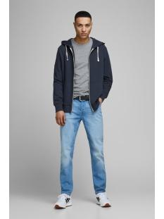 jjeholmen sweat zip hood noos 12136884 jack & jones vest navy blazer/ reg fit