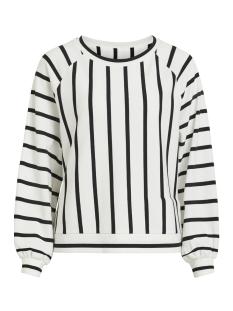 objbillie jean sweat pullover 101 23028714 object sweater white/black stripes