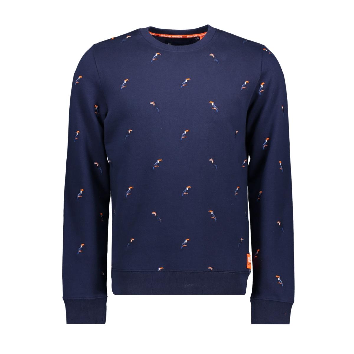 m20101et superdry sweater vintage navy
