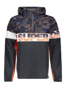 Superdry Jas RYLEY OVERHEAD M50012PT CAMO/CHARCOAL