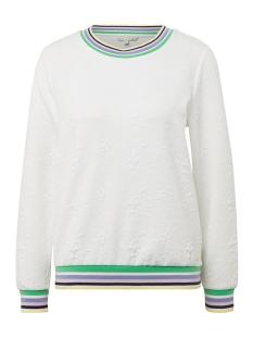 Tom Tailor sweater SWEATER MET BLOEMENMOTIEF 1009843XX71 17776