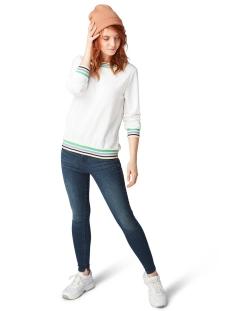 sweater met bloemenmotief 1009843xx71 tom tailor sweater 17776